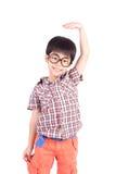 Muchacho asiático que crece alto y que se mide Fotografía de archivo
