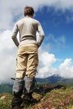 Muchacho-caminante Imagen de archivo libre de regalías