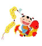 Muchacho chino de los saludos del Año Nuevo