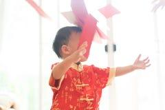 Muchacho chino en festival chino del Año Nuevo Fotos de archivo