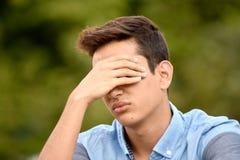 Muchacho colombiano infeliz del adolescente Imagen de archivo libre de regalías