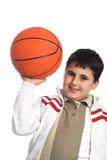 Muchacho con baloncesto Foto de archivo libre de regalías