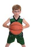Muchacho con baloncesto Imágenes de archivo libres de regalías