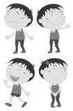 Muchacho con diversas emociones libre illustration