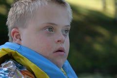 Muchacho con Down Syndrome Fotografía de archivo