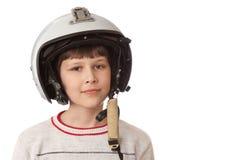 Muchacho con el casco Fotos de archivo libres de regalías