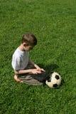 Muchacho con el cuaderno Fotos de archivo