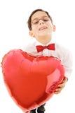 Muchacho con el globo rojo Imagen de archivo libre de regalías