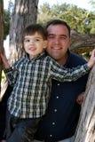 Muchacho con el papá Fotos de archivo