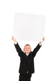 Muchacho con el papel en blanco Imagen de archivo libre de regalías