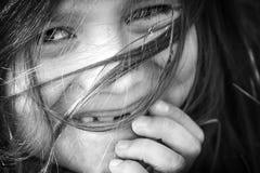 Muchacho con el pelo largo Fotos de archivo libres de regalías