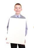 Muchacho con el tablero en blanco Fotografía de archivo libre de regalías
