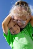 Muchacho con la abuela Fotos de archivo