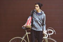 Muchacho con la bicicleta Imagen de archivo