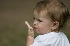 Muchacho con la boca sucia Imágenes de archivo libres de regalías