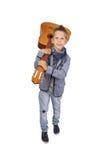 Muchacho con la guitarra Imagen de archivo libre de regalías