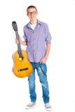 Muchacho con la guitarra española clásica Fotografía de archivo