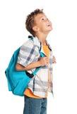 Muchacho con la mochila Imagen de archivo libre de regalías
