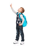 Muchacho con la mochila Foto de archivo