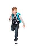 Muchacho con la mochila Fotografía de archivo