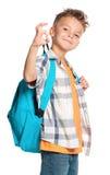 Muchacho con la mochila Imagen de archivo