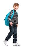 Muchacho con la mochila Fotografía de archivo libre de regalías