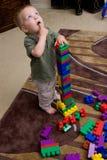 Muchacho con los bloques Foto de archivo