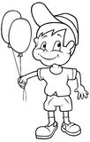 Muchacho con los globos Foto de archivo libre de regalías