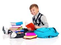 Muchacho con los libros Foto de archivo