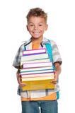 Muchacho con los libros Fotografía de archivo
