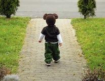 muchacho con los oídos de ratón Imágenes de archivo libres de regalías