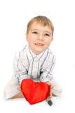 Muchacho con un corazón Imágenes de archivo libres de regalías