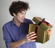 Muchacho con un rectángulo Imagen de archivo libre de regalías