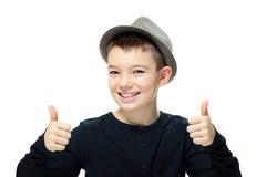 Muchacho con un sombrero Imagen de archivo libre de regalías