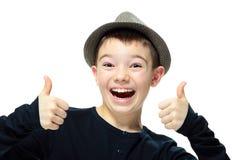 Muchacho con un sombrero Imágenes de archivo libres de regalías