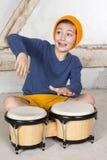 Muchacho con un tambor Fotos de archivo