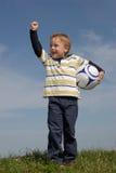 Muchacho con una bola Fotos de archivo libres de regalías