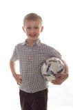 Muchacho con una bola imagenes de archivo
