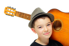 Muchacho con una guitarra Fotos de archivo libres de regalías
