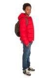 Muchacho de escuela negro Imagenes de archivo
