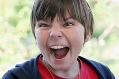 muchacho de grito Imagen de archivo