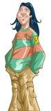 Muchacho de Grunge Ilustración del Vector