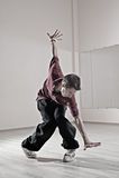Muchacho de Hip-hop en estudio de la danza Imágenes de archivo libres de regalías