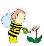 Muchacho de la abeja Imagen de archivo