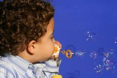 Muchacho de la burbuja Fotografía de archivo