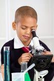 Muchacho de la ciencia Foto de archivo libre de regalías