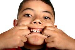 Muchacho de la expresión facial foto de archivo libre de regalías