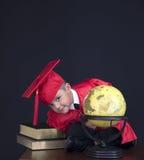 Muchacho de la graduación Imágenes de archivo libres de regalías