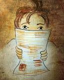 Muchacho de la lectura Fotografía de archivo libre de regalías