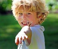 Muchacho de la mariposa Imagen de archivo libre de regalías